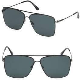 9fe5e0c98e Tom Ford Men s Magnus 60MM Square Aviator Sunglasses