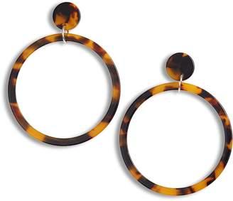 Sterling Forever Stud Hoop Earrings