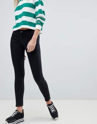 Pull&Bear low waist skinny jean in black