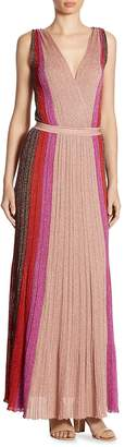 Missoni Women's Striped Deep V-Neck Gown