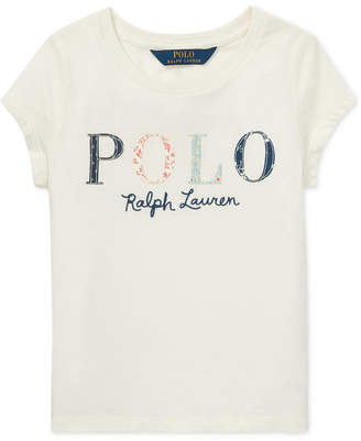 Polo Ralph Lauren Little Girls Logo Graphic Cotton T-Shirt