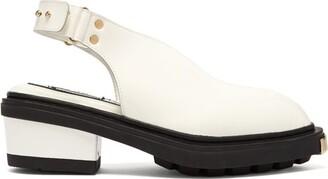 Eytys Carmen Leather Slingback Heels - Womens - White