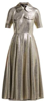 3c88f1c550d Emilia Wickstead Lydia Metallic Midi Dress - Womens - Silver