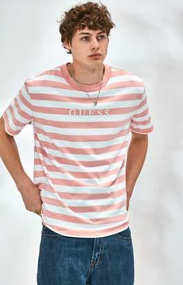 Guess Stream Stripe Pink T-Shirt