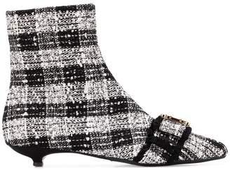 Anna Baiguera Annaveronica crystal-embellished bouclè booties