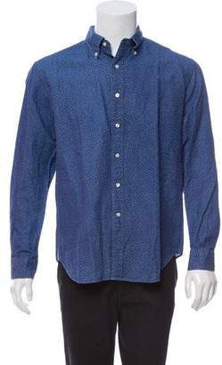 Barneys New York Barney's New York Patterned Button-Up Shirt