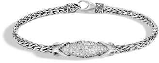 John Hardy Asli Classic Chain Link Station Bracelet With Diamond