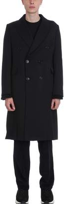 Our Legacy Countour Double Breasted Wool Black Coat