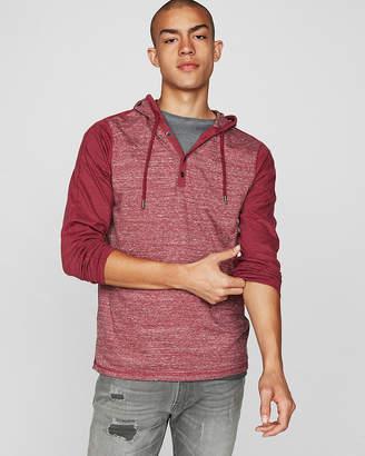 Express Texture Jersey Hooded Henley