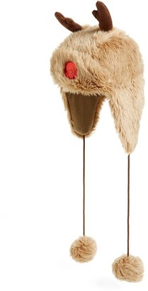 Women's Collection Xiix Reindeer Faux Fur Trapper Hat - Brown $38 thestylecure.com