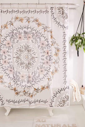Urban Outfitters Sketched Floral Medallion Shower Curtain