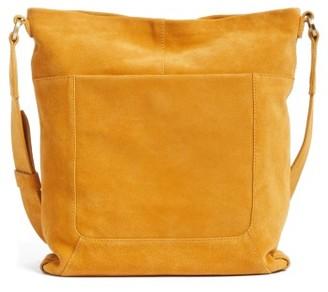 Hobo Reghan Suede Crossbody Bag - Yellow $258 thestylecure.com