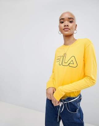 Fila Oversized Long Sleeved T-Shirt With Chest Logo