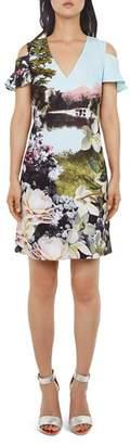 Ted Baker Lilaa Windermere Cold-Shoulder Dress