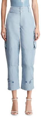 Ralph Lauren Landry High-Rise Faille Cargo Pants