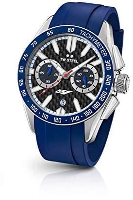 TW Steel Men's 'Grandeur Sport' Quartz Stainless Steel and Silicone Dress Watch