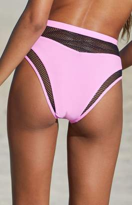 Sports Illustrated Swim Mesh High Rise Bikini Bottom