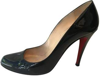 Christian Louboutin Black Leather Heels