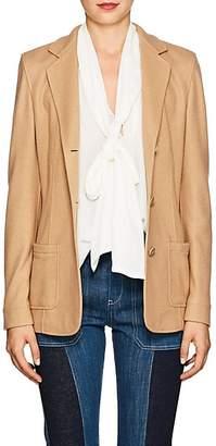 Xo Barneys Colombo Women's Cashmere-Silk Fitted Three-Button Blazer - Camel