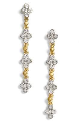 Freida Rothman Visionary Fusion Pave Clover Drop Earrings