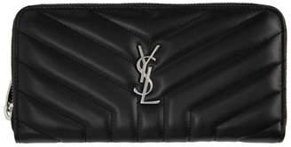 Saint Laurent Black Lou Lou Continental Wallet