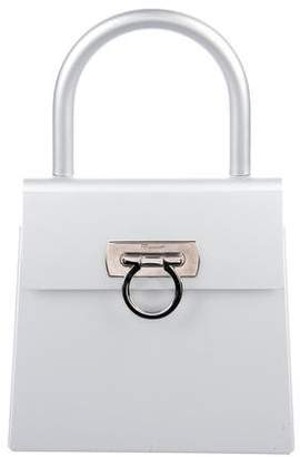 Pre Owned At Therealreal Salvatore Ferragamo Metal Gancino Handle Bag