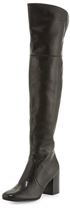 Frye Jodi Leather Over-The-Knee Boot, Black $648 thestylecure.com