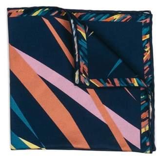 hook + ALBERT Far Out Print Silk Pocket Square