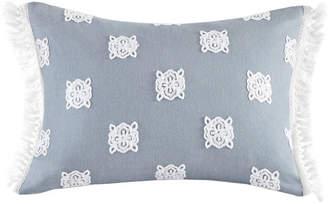 "Echo Venus 14""x18"" Embroidered Cotton Oblong Decorative Pillow"