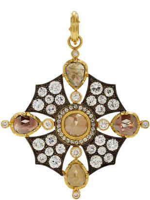 Sylva & Cie 18K Gold Sterling Silver And Diamond Charm