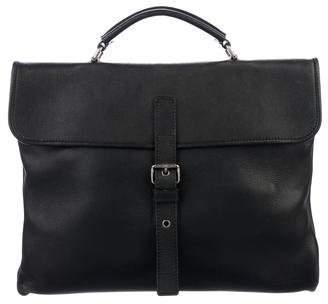 Saint Laurent Grained Leather Briefcase