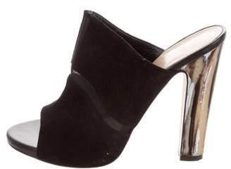 Maiyet Mesh-Trimmed Slide Sandals