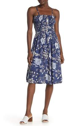 Angie Floral Smocked Button Dress