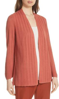 Eileen Fisher Bell Cuff Silk Blend Cardigan