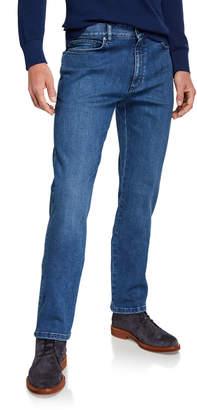 Ermenegildo Zegna Men's Light Washed Stretch-Denim Jeans