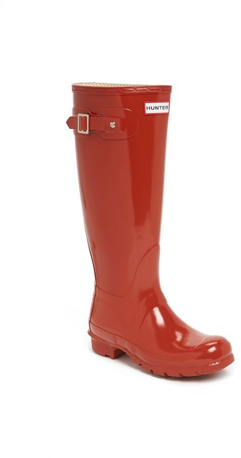 Hunter 'Original Tall' Gloss Rain Boot (Women)