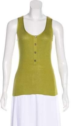 Hermes Silk-Blend Tank Top