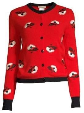 Etro Wool-Blend Flower Cardigan