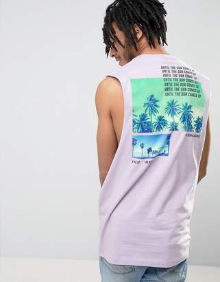 Asos DESIGN Sleeveless T-Shirt With Palm Back Print