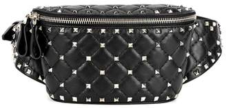 Valentino Rockstud Spike Small Leather Belt Bag