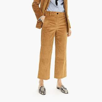 J.Crew Wide-leg cropped pant in corduroy