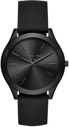 Michael Kors Women's Slim Runway Sporty Black Silicone Strap Watch 42mm MK2513 $195 thestylecure.com
