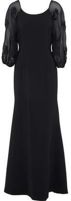 Sachin + Babi Charlotte Embellished Chiffon-Paneled Crepe Gown