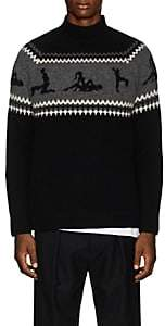 The Elder Statesman Men's Kamasutra Fair Isle Cashmere Sweater