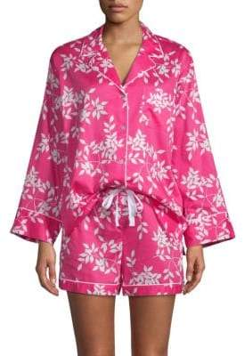 Natori Two-Piece Graphic Cotton Shorty Pajama Set