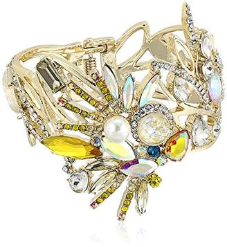 Betsey Johnson Critters Bright Cockatoo Hinge Bangle Bracelet