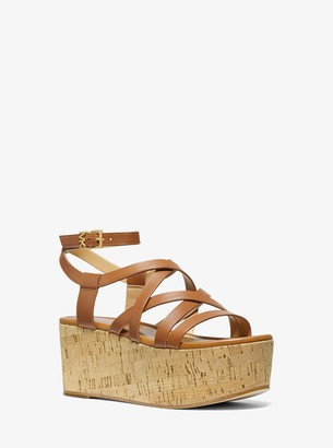 MICHAEL Michael Kors Marlon Leather Wedge Sandal