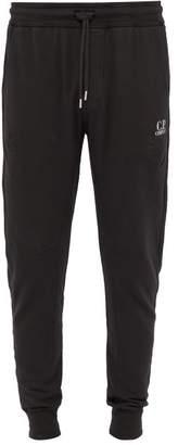 C.P. Company Logo Print Tapered Leg Cotton Track Pants - Mens - Black