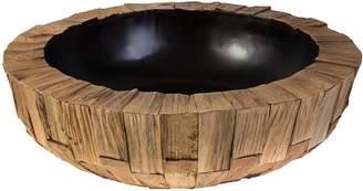 Casa Uno Wooden Pine Bowl