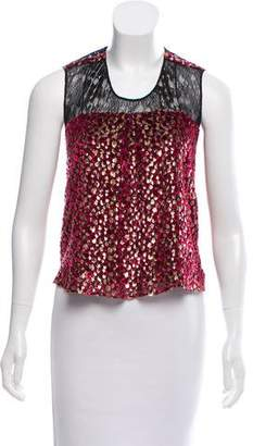 Sophie Theallet Fil-Coupe Sleeveless Top